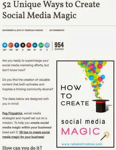 Social media content for businesses