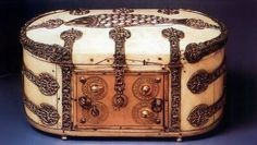 In 1206, the Muslim engineer Al-Jazari, documented a combination lock in his book al-Ilm Wal-Amal al-Nafi Fi Sina'at al-Hiyal (The Book of Knowledge of Ingenious Mechanical Devices).This Ivory Box (Syria, c. 1200, Maastricht, Sint Servaas) was designed by Al-Jazari. The combination lock on the front of the box has four dials with Arabic letters representing numerals.