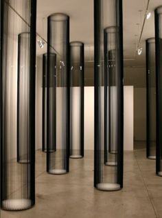 Columns | Zilvinas Kempinas. 2006. Magnetic tape and plywood