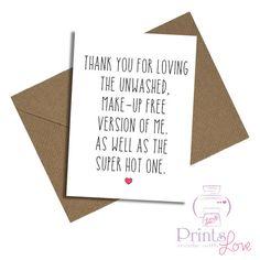 Birthday card Valentine's boyfriend friend by PrintsmadewithLOVE