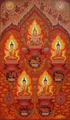 5 Buddhas of the Present Era