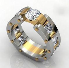 Mens ring with white diamonds | Raddest Men's Fashion Looks On The Internet: http://www.raddestlooks.org