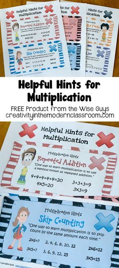 Helpful Hints for Multiplication by the Wise Guys