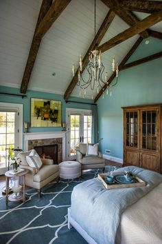 House of Turquoise: HGTV Dream Home 2015 - Sherwin Williams - Watery. Love everything about this!
