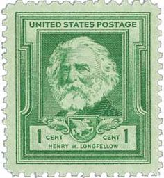 1940 1c Henry Wadsworth Longfellow - Catalog # 864 For Sale at Mystic Stamp Company