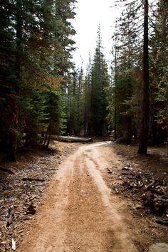 Dirt Road - Road To Nowhere, Yosemite, California. Perfect road for me
