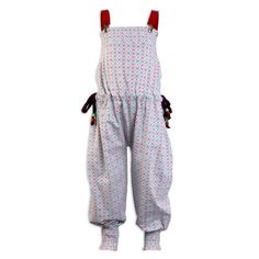 4 Funky Flavours jumpsuit blauw-rood