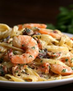 Garlic Shrimp Alfredo Dinner For Two