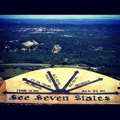 See seven states from the top of Lookout Mountain in #Georgia. #exploregeorgia #rockcity