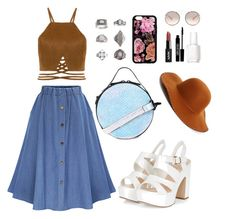 """""""Sem título #239"""" by juliavignola ❤ liked on Polyvore featuring Topshop, Prada, Lord & Berry, Essie and Phase 3"""