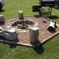 The backyard fire pit