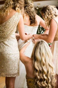 Gold Bridesmaids {Starfish Studios}