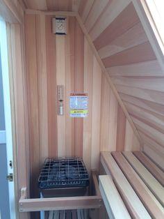Sauna in an attic space