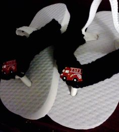 Flip Flops for Toddlers.....Fire Truck by GrammaLeas on Etsy, $10.50