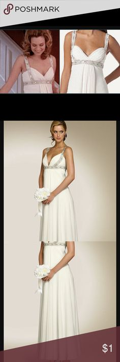 ISO...white dress In search of this white dress. I don't know anything about this dress in terms of designer or availability. Just figured I'd throw it out there and see if anyone has any informations regarding it or if I am lucky enough to find someone selling it. This is Peyton Sawyers Prom Dress from One Tree Hill tv show and I've been obsessed with the dress ever since and want to buy one. Dresses