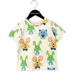 Tivoli Toy AOP Short Sleeve T Shirt in Green by Mini Rodini - Junior Edition  - 2