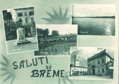 Saluti da Breme: cartolina degli anni '50. #Lomellina #storia #tradizioni