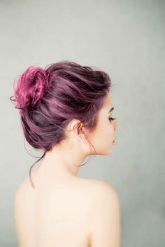 A new month calls for daring change. Fuschia hair, anyone? #VioletHour