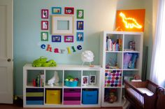 nursery organization. I have the shelves, just need the cubes to match