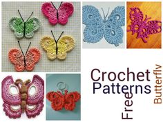 Butterfly Crochet....FREE PATTERNS!!!!!!!