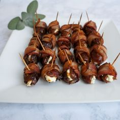 With these Bacon Wrapped Dates Stuffed with Goat Cheese you'll have a deluxe & delicious appetizer that will have absolutely everyone impressed!