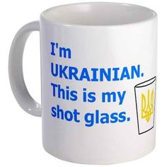 "Ukrainian shot glass ""Wodka"""