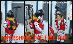 I made this costume for my almost 4yr old! It was super easy! DIY Halloween Marshall the Fire Pup! Paw Patrol!