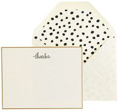 letterpress thanks note set | sugar paper.