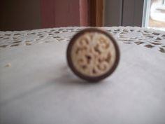 Ring  filigree  vintage button  adjustable  by aPrairiePeddler, $12.00