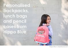 Bondville: Great personalised backpacks from Hippo Blue
