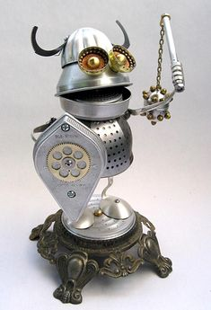 Assemblage Art | ... handmade metal robots from Taiwan are the must-see Found Art gadgets