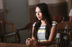 Pin for Later: The Pretty Little Liars Are All Grown Up in Pictures From the Winter Premiere  Janel Parrish as Mona.