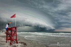 A storm rolling onto shore in New Smyrna Beach. Jason Weingart Photo