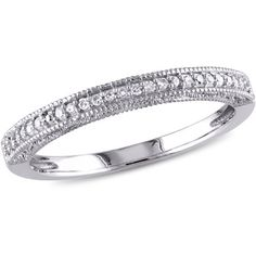 Miabella 1/10 Carat T.W. Diamond 10kt White Gold Wedding Band #whitediamonds