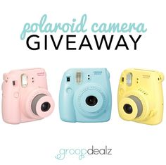 Enter in the Polaroid Camera Giveaway! Find more information here: http://www.groopdealz.com/giveaway