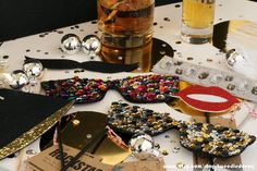 Photo Booth Props - New Years Eve Party Collection - Mustache -  Party Favor - Holiday - NYE 2014