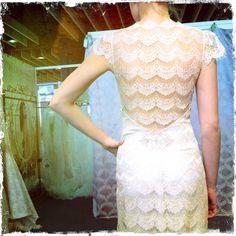 {GORGEOUS} lace back detail    @Claire Pettibone  #Spring2013Bridal  @Smitten Magazine