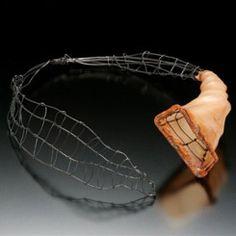 """Bracelets - Ronna Sarvas Weltman Polymer, steel wire """"Vegan Gut"""" necklace"""