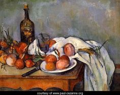 Still Life With Red Onions - Paul Cezanne - www.paul-cezanne.org