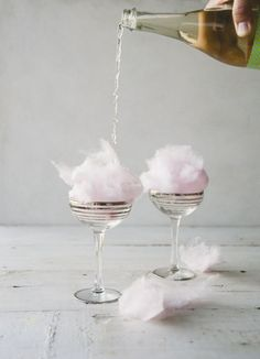 cotton candy champagne cocktails, the perfect Team Bride hen party drink!