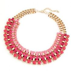 Rose Colored Statement Necklace