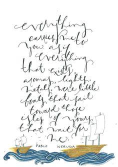 Pablo Neruda Printable by HardinStudios on Etsy