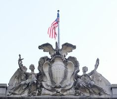 "Sculpture ""Symbols of Government"" at Alexander Hamilton U.S. Custom House, New York, New York"