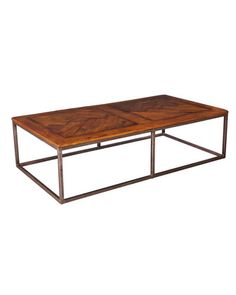 Sarreid Ltd. Cascade Cocktail Table, Perfect for the relaxed living room, this rectangular table is made of sturdy iron and richly finished reclaimed wood. Brown Furniture, Large Furniture, Quality Furniture, Accent Furniture, Furniture Design, Custom Furniture, Wood Furniture, Heng Long, Wood Parquet