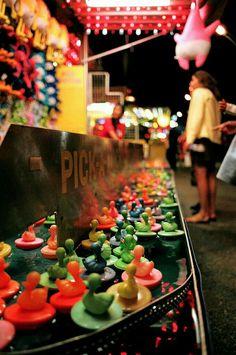 pick-a-duck game on a carnival midway Carnival Photography, Fair Photography, Travel Photography, Art Du Cirque, Carrousel, Street Fair, Carnival Rides, Fair Games, Fun Fair