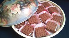 Biscuit with almond cream Almond Cream, Waffles, Biscuits, Breakfast, Food, Crack Crackers, Morning Coffee, Cookies, Essen