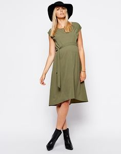 Enlarge ASOS Maternity Swing Dress With Dipped Hem