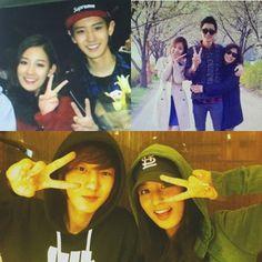 chanyeol exo & park yura (sister) Park Chanyeol Exo, Baekhyun, Exo 12, Chanbaek, K Idols, Boy Bands, Daddy, Sisters, Skinny