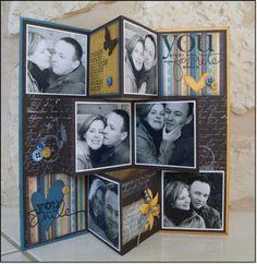 Mini album a poser Album Photo Scrap, Mini Album Scrapbook, Mini Albums Scrap, Scrapbook Cards, Step Cards, Diy Cards, Fancy Fold Cards, Folded Cards, Mini Album Tutorial