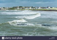 Download this stock image: Waves on a stormy day at Trearddur Bay - GMG99N from…